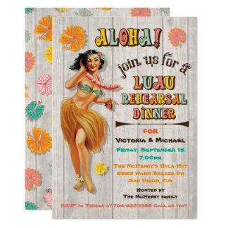 Convites havaianos do jantar de ensaio de Luau