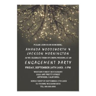 Convites iluminados rústicos da festa de noivado