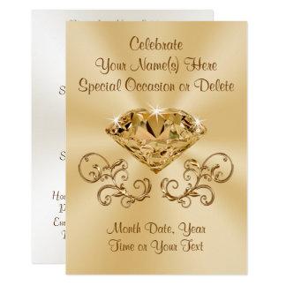 Convites impressionantes do diamante