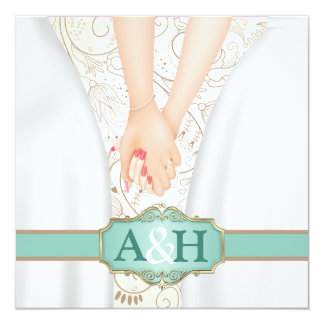 Convites lésbicas personalizados do casamento