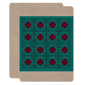 Convites luxuosos: MARROM AZUL geométrico