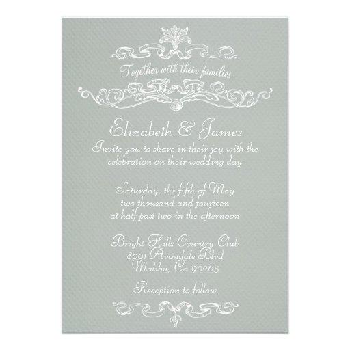 Convites luxuosos simples do casamento