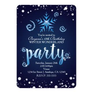Convites mágicos azuis do país das maravilhas do