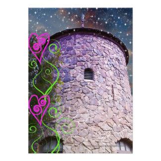 Convites mágicos do aniversário do castelo