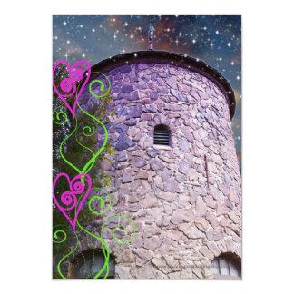 Convites mágicos do aniversário do castelo convite 12.7 x 17.78cm