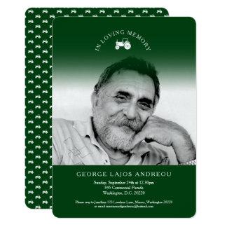 Convites memoráveis do funeral do verde do trator