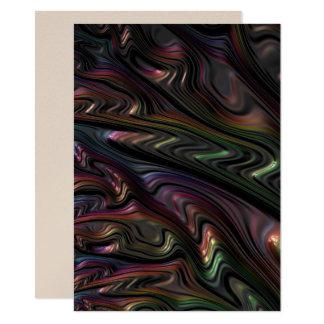 Convites metálicos da arte abstracta do shimmer do