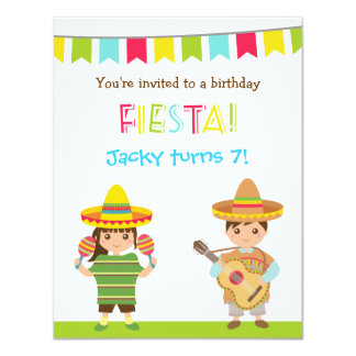 Convites mexicanos coloridos do aniversário de