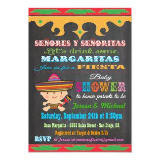 Convites mexicanos do chá de fraldas da festa do