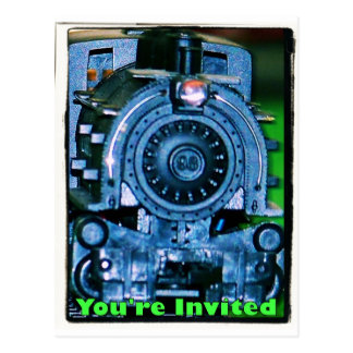 Convites modelo do trem