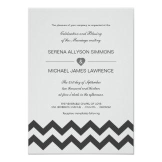 Convites modernos cinzentos & pretos do casamento