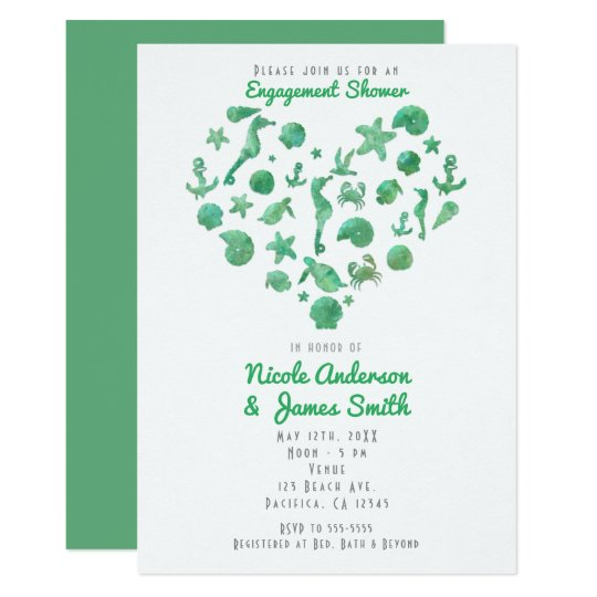 Convites modernos da aguarela verde das coisas da