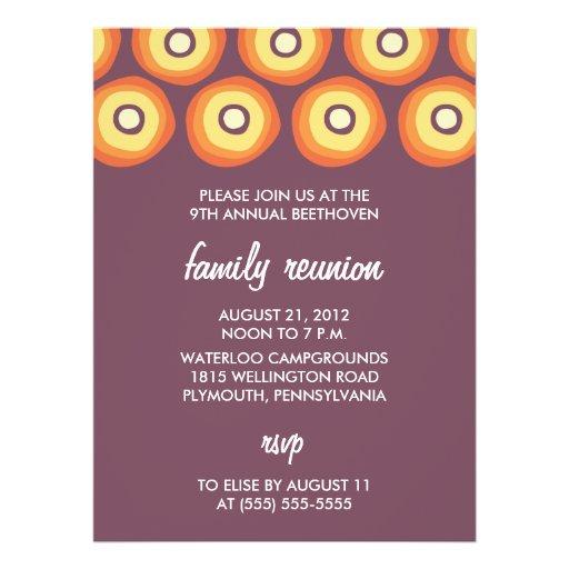 Convites modernos da reunião de família dos sóis -