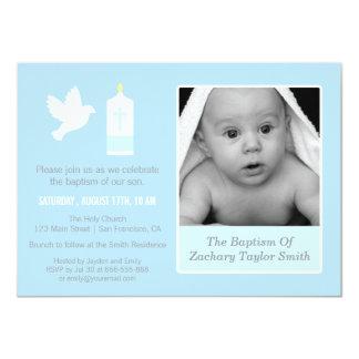 Convites modernos do baptismo da pomba e da foto