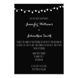 Convites modernos do casamento das luzes