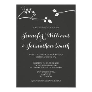 Convites modernos do casamento do ramo do quadro