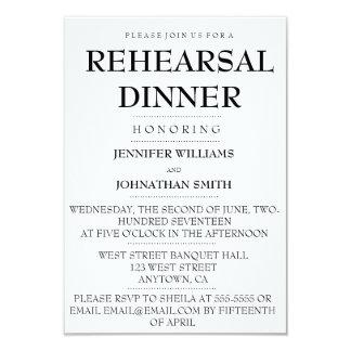Convites modernos do jantar de ensaio da