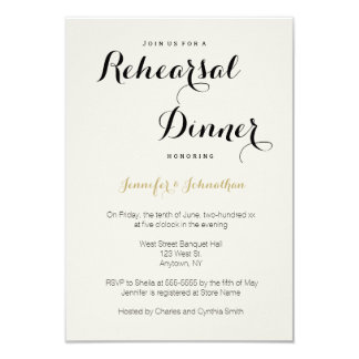 Convites modernos do jantar de ensaio da rotulação