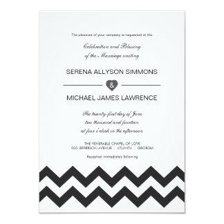 Convites modernos preto e branco do casamento de