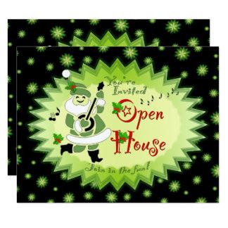 Convites musicais da casa aberta do Natal do
