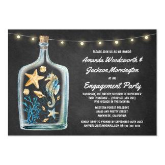 Convites náuticos da festa de noivado do quadro