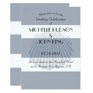 Convites náuticos do casamento da listra da praia