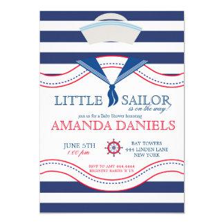 Convites náuticos do chá de fraldas do marinheiro
