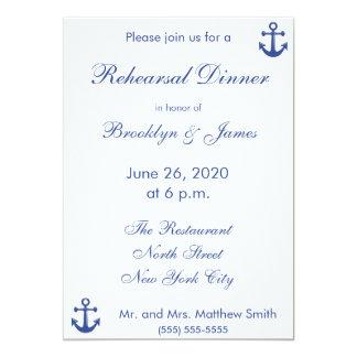 Convites náuticos do jantar de ensaio do casamento