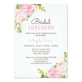 Convites nupciais do almoço da peônia cor-de-rosa