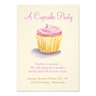 Convites originais do cupcake da ilustração