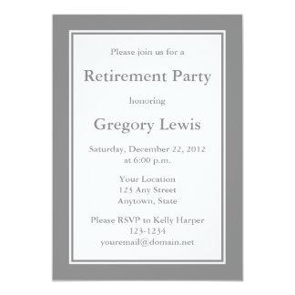 Convites ou anúncios cinzentos personalizados