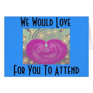 Convites para o casamento do noivado do chá cartão comemorativo