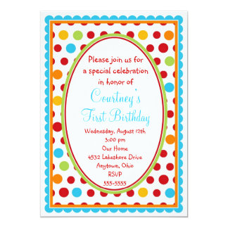 Convites pequenos bonito do primeiro aniversario