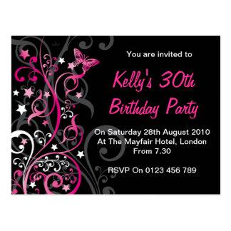 Convites personalizados do aniversário