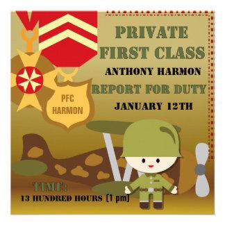 Convites personalizados do aniversário do exército