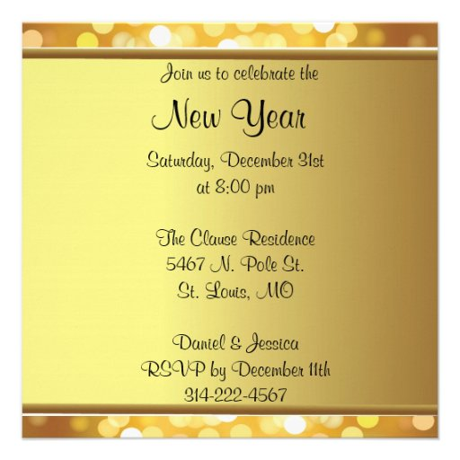 Convites personalizados do ano novo