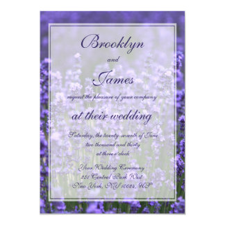Convites personalizados do casamento da lavanda convite 12.7 x 17.78cm