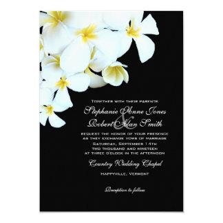 Convites preto e branco do casamento de praia do