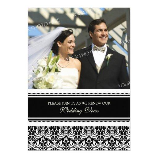 Convites pretos da renovação do voto de casamento