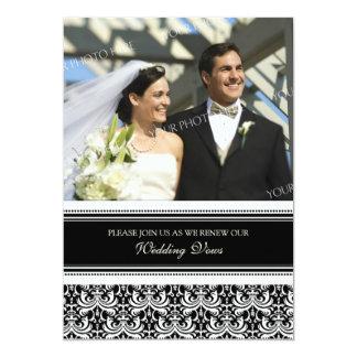 Convites pretos da renovação do voto de casamento convite 12.7 x 17.78cm