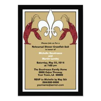 Convites pretos do evento da fervura dos lagostins