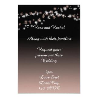 Convites pretos e cor-de-rosa personalizados de