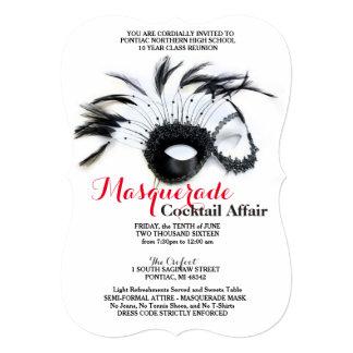 Convites pretos e vermelhos do mascarada