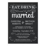 Convites pretos rústicos do casamento vintage de
