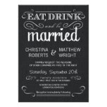 Convites pretos rústicos do casamento vintage de s