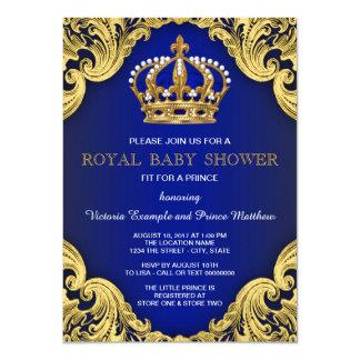 Convites reais do príncipe chá de fraldas