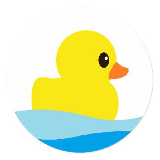 """Convites redondos """"Ducky"""" de borracha"""