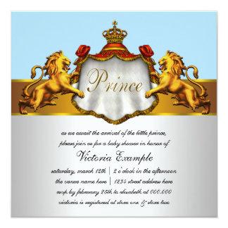 Convites régios do príncipe chá de fraldas dos
