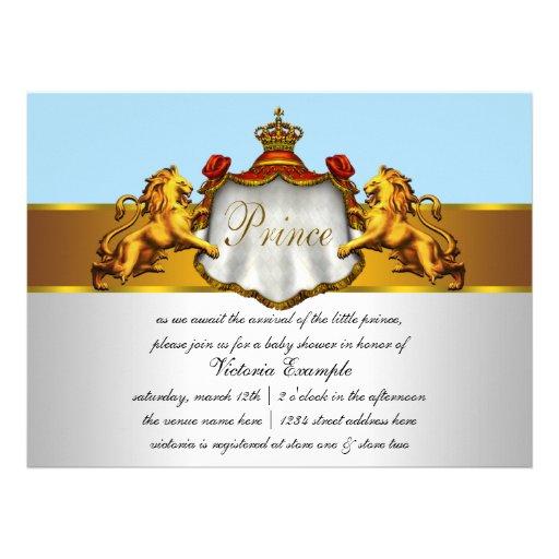 Convites régios do príncipe chá de fraldas dos azu