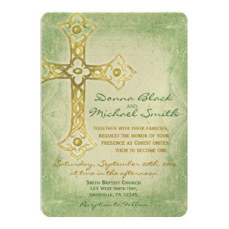 Convites religiosos de canto cruzados do casamento